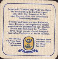 Pivní tácek post-brauerei-weiler-1-zadek-small