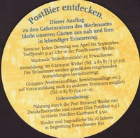 Pivní tácek post-brauerei-weiler-2-zadek-small