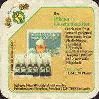 Pivní tácek privatbrauerei-hoepfner-11-zadek-small
