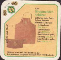 Pivní tácek privatbrauerei-hoepfner-27-zadek-small