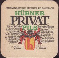 Pivní tácek privatbrauerei-hubner-1-oboje-small