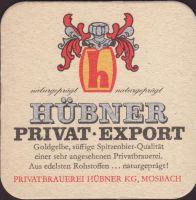 Pivní tácek privatbrauerei-hubner-2-zadek-small