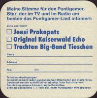 Beer coaster puntigamer-89-zadek-small
