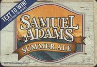 Beer coaster samuel-adams-25-small