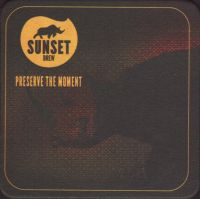Beer coaster sunset-brew-3