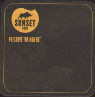 Beer coaster sunset-brew-4