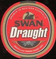 Beer coaster swan-1