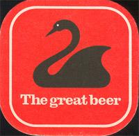 Beer coaster swan-3