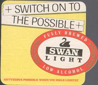 Beer coaster swan-5
