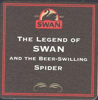 Beer coaster swan-7