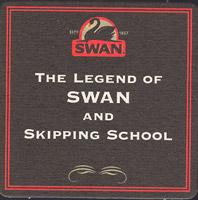 Beer coaster swan-8