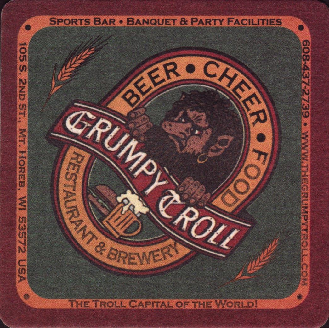 Beer coaster - Coaster number 1-1   Brewery Grumpy Troll