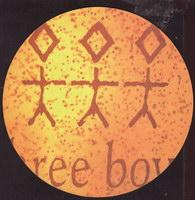 Pivní tácek three-boys-2-zadek