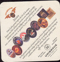 Beer coaster unibroue-1-zadek