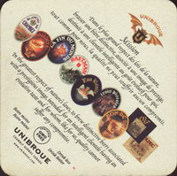 Beer coaster unibroue-13-zadek