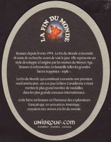 Beer coaster unibroue-14-zadek-small