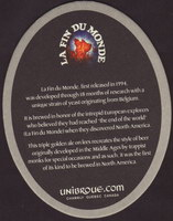 Beer coaster unibroue-16-zadek-small