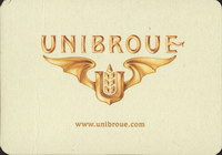 Beer coaster unibroue-7-small