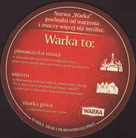 Beer coaster warka-21-zadek
