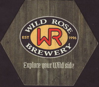 Beer coaster wild-rose-1