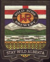 Beer coaster wild-rose-3