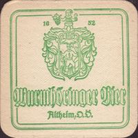 Beer coaster wurmhoringer-privatbrauerei-braugasthof-2-small