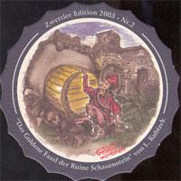 Pivní tácek zwettl-karl-schwarz-32-zadek